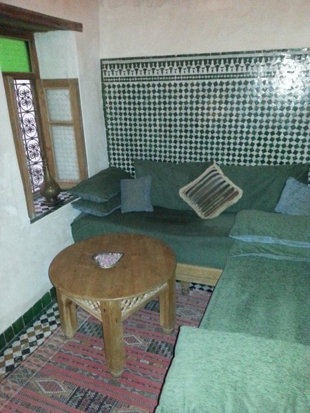 Another small sitting room within the Moroccan Guest House, in Fes.
