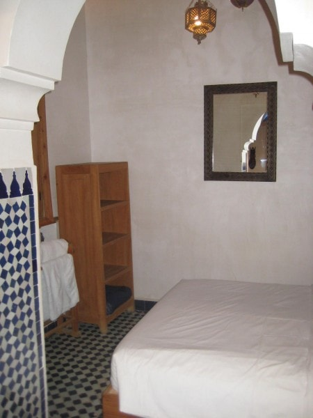 One of the double bedrooms of the Holiday House in Fez, Morocco.